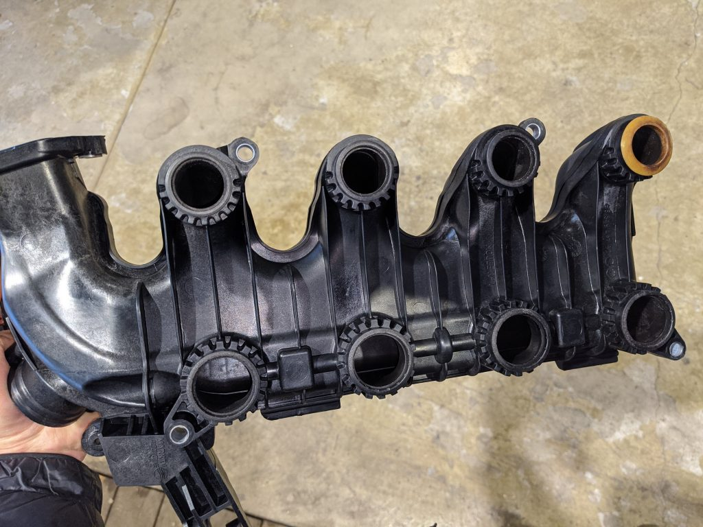 Ford 1.6TDCI intake after ultrasonic cleaning